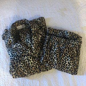 Kim Rogers Intimates Cheetah Print Pajama Set